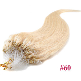 "Wholesale Cheap Micros Hair - ELIBESS 5g strand 100pcs Cheap Micro Loop Hair Extension Brazilian Remy Virgin Human Hair 16""18""20""22""24"" 26'' 9A Quality Sale"