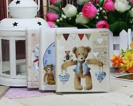 Wholesale Little Notebooks Wholesale - Wholesale- Cute Little bear daily memo mood diary agenda planner to do list notepad mini notebook pocket dairy daily agenda memo