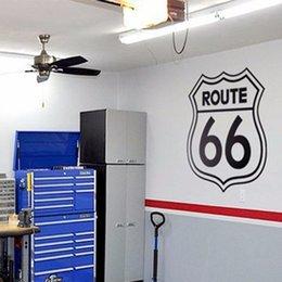 2019 sinais da sala de escritório Apressado Diy Poster Rótulos Do Vintage 66 Número de Etiquetas Adesivos Decalques Da Parede Da Sala de Decoração Para Casa Escritório Garage Vinyl Decal sinais da sala de escritório barato