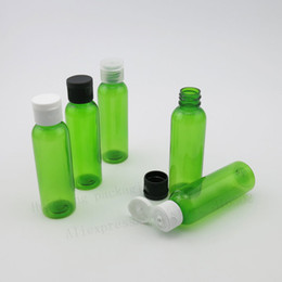 Wholesale Shampoo Containers Wholesale - 50 x 60ml Empty Green PET Liquied Cream Shampoo Bottle With Flip Top Cap 2oz Plasitc Cosmetic Container