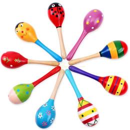 Argentina Súper ventas bebé juguete de madera Sonajero bebé lindo Sonajero juguetes Orff instrumentos musicales juguetes educativos envío rápido Suministro