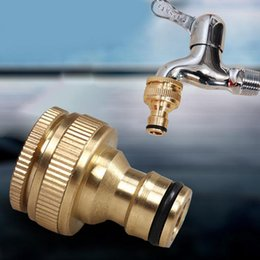 Wholesale Quick Washing Machine - New hot Standard Copper Faucet Washing Machine Hose Fittings Quick Connector Adapter Accessories Industrial Cleaning Gun dhl free