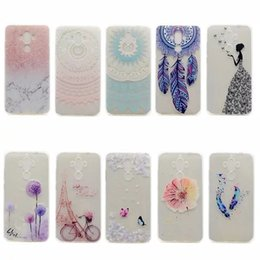Wholesale Gel Mate - Flower Soft TPU Gel Case For Huawei Mate 9 Nova Plus Y6 Pro Y600 Butterfly Marble Tower Feather Henna Paisley Mandala Dreamcatcher Cover