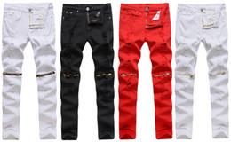 Wholesale Men Paint Jeans - 2017 men Brand Famous Jeans Men NEW Green Black Denim Biker Skinny jean slim elastic Hiphop Washed