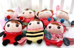 Wholesale Metoo Phone - Wholesale- Free shipping 20cm Angela metoo sweet cartoon phone case small zero coin purse children little bag plush toy girl gift 1 pc
