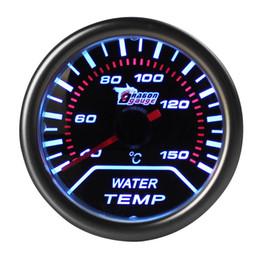 Wholesale led temperature meter - 2 Inch 52mm Car Universal Smoke Len LED Water Temperature Gauge Meter CEC_503