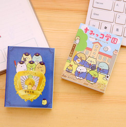 Wholesale San X Stationery - Wholesale- SAN-X Sumikko Gurashi 4 Folding Memo Pad N Times Sticky Notes Memo Notepad Bookmark Gift Stationery