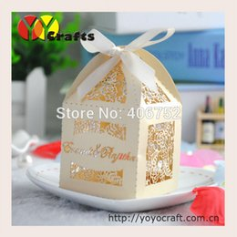 Wholesale Cheap Candy Paper Box - Wholesale-Wedding souvenirs Banquet Romantic party candy gift box china customized laser cut cheap paper chocolate box