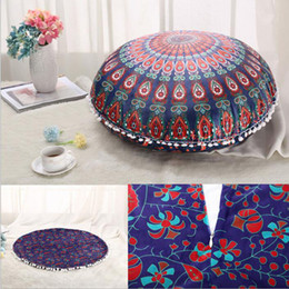 Wholesale Sofa Decorations - 75*75cm Mandala Indian Ombre Pillow Case Hippie Boho Throw Cushion Cover Floor Pillow Cover Bohemian Pillowcase Vintage Sofa Car Decoration