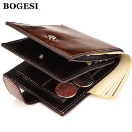 Wholesale Men Gif - Wholesale- BOGESI Brand Men Short Wallets Balck Coffee Bifold Wallet Mens Famous PU Leather Card holder Coins With Zipper Wallet Purse Gif