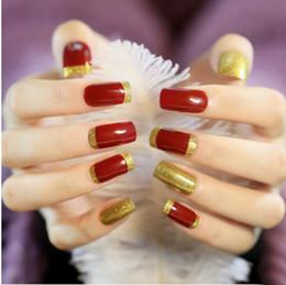 Wholesale Fake Nails Girls - Newest 3d Finger Nail Strips Individual Design False Nails Crystal style fake nails for wedding Girl Fashion 3x24Pcs Lot artificial nails