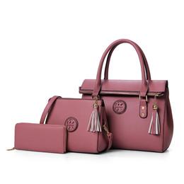 Wholesale Handbag Sets - Women bag Women's Shoulder Bags PU Leather Bag Lady's Designer Handbag Messenger bags Crossbody Bag 3 Sets