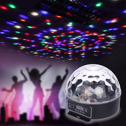Wholesale Stage Light Videos - Wholesale-Professional 6 Channel DMX-512 LED RGB Crystal Magic Ball Effect Light DMX 512 Disco DJ Stage Lighting For Audio Video AC90-240V