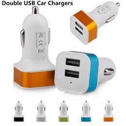 Wholesale chinese car prices - Best Price Square Aluminum Alloy 5V 2.1A Dual USB Car charger Double USB Car Charger for iphone Samsung Sony LG HUAWEI XIAOMI