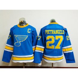 Wholesale Cheap Female Jerseys - 2017 Winter Classic Premier Jersey St. Louis Blues#27 Alex Pietrangelo Ladies Hockey Jerseys Female Stitched Hockey Uniforms for Cheap