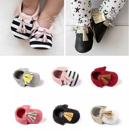 Wholesale Wholesale Kids Hot Shoes - 2016 New Hot Baby Shoes Supersoft Pu Leather Infant Kids Shoes Fashion Multi Colors Tassels Baby Moccasins Shoes Wholesale