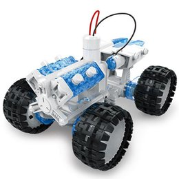 kids educational metals Promo Codes - Brine Power Self-assembled Space Vehicle Crawler Car Salt Water Fueled DIY Self Assembled Space Vehicle Educational Toy