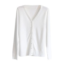 Wholesale Wholesale Women Cashmere Sweaters - Wholesale-Women Knitted Sweater V-neck Long Sleeve Cashmere Cardigan