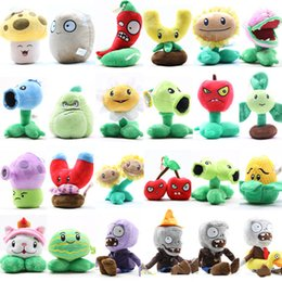 Wholesale Plants Vs Zombies Party - Wholesale- Plants vs Zombies Plush Toys 12-22cm PVZ Soft Stuffed Plush Toys Doll Baby Toy for Kids Gifts Party Toys