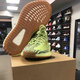 Wholesale Uv Test - Mens Shoes Running Shoes Semi Frozen Yellow Zebra 2017 SPLY 350 Gum Glow in Dark Beluga2.0 Triple White Pass UV light Test