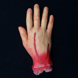 Wholesale Toy Eyeballs - Halloween Ghost Day Prank Props Arm And Leg Stump Blood Hand Scars Foot Prank Trick Halloween Toys Artificial 5 Bloody Hand Eyeballs
