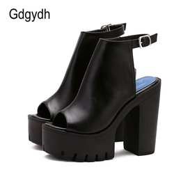 Wholesale Sandals Platform Summer - Wholesale-Hot Sale European Women Summer Shoes Slingbacks High Heels Sandals Platform Causel Shoes for Party Size 35-39