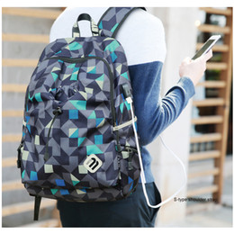 Wholesale Students Bags Woman Laptop - USB Charging Student College Waterproof Nylon Backpack Men Women Material Escolar Mochila Quality Brand Laptop Bag School Backpack