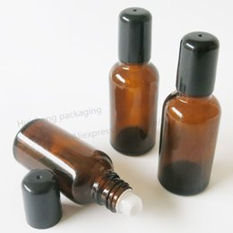 Wholesale Wholesale Roll Glass Vials - 30ml Amber Roll On Perfume Glass Bottle 30cc Brown Roll-on Parfum Vials