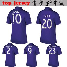 Wholesale Man City Soccer Jerseys - ORLANDO CITY Soccer Jersey 2017 Thai quality KAKA home purple SHEA LARIN NOCERINO 17 18 ORLANDO Football Shirt