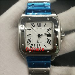 Wholesale Car Brand Belt Buckles - Luxury brand watch men 40mm sapphire glass mechanical C watch white dial aaa wrisrwatch stainless steel belt car rep watches n0138