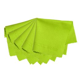 Wholesale Microfiber Camera Lens Cleaning Cloth - Wholesale- 5pcs Lens Screen Microfiber Cleaning Cloth Glasses Spectacle Micro Fiber Cloth Camera Cleaning Tools Accessories Green