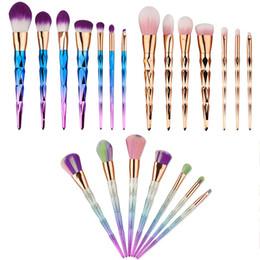 Kabuki em pó on-line-7 pçs / set Profissional Pincéis de Maquiagem 3 Cores Beleza Cosméticos Eyeshadow Lip Pó Rosto Ferramentas Kabuki Escova Set