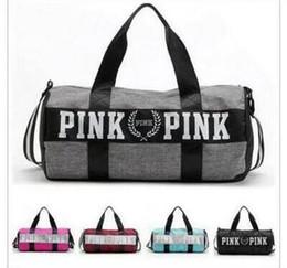Wholesale Tote Handbags Waterproof - Yoga Bags Travel Beach Bag VS Women Men Handbags Letter Bags Pink Letter Duffle Shoulder Bags 2017 Fashion Fitness Waterproof Totes
