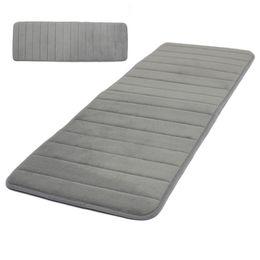 Wholesale Foam Kitchen Rugs - Wholesale- JFBL 2X 120x40cm Absorbent Nonslip Memory Foam Kitchen Bedroom Door Floor Mat Rug Carpet Gray