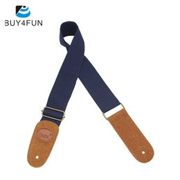 Wholesale Guitar Hot Folk - Wholesale- Hot IRIN Adjustable Guitar Belt Woven Cotton Guitar Strap with Leather Ends for Electric Acoustic Folk Guitar Comfortable