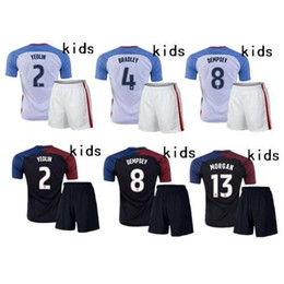 Wholesale France Football Kits - 2017 High quality usa Kids HOME AWAY Soccer jerseys 16 17 France jersey Children youth Kits Lisboa Football shirts maillot.