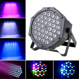 Wholesale Disco Ball Party Stage Lights - Crystal Magic Ball Par 36 RGB LED Stage Light Effect Disco DJ Bar Effect UP Lighting Show DMX Strobe for Party KTV LEG_90C