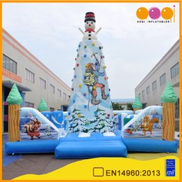 Wholesale Holiday Jumpers - New design bouncer castle christmas holiday inflatable rock climbing inflatable for ourdoor playground used party jumpers for sale