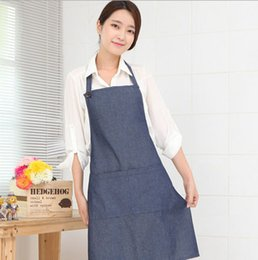 Wholesale Hanging Jeans - Fashion Korean Home cooks hanging neck jeans waiter aprons