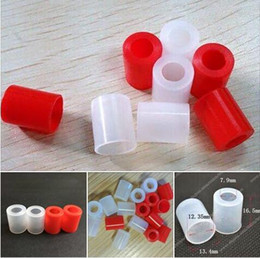 Wholesale Mouth Testers - Wide bore tank Silicone Test Caps Disposable Drip Tip Cover Rubber Mouthpiece Tester For 12mm inner diameter mouth tips tank atomizer