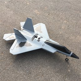 Wholesale Rc Airplane Epo - 2017 Hot Sale F22 Rc Airplane Epo Foam Fighter Jet Plane Juguetes Electric Remote Control Airplanes Toys DHL Shipping
