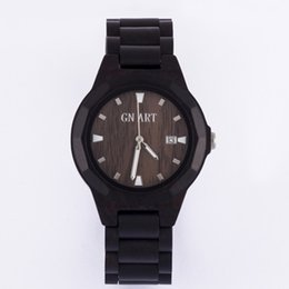 Wholesale Oem Ebony - OEM Multi-Function Ebony Watches Gift Watches Wooden Watch