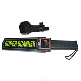 Wholesale Metal Alarm - Airport security checking Body Scanner Sound and Light and Vibration Alarm Handheld Metal Detector Super Scanner MD3003B1!