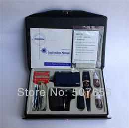 Wholesale Permanent Makeup Sunshine - Wholesale- Free shipping 1case tattoo machine kit-blue sunshine permanent makeup machine kit with Battery box