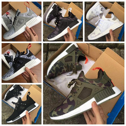 Wholesale Grey Wool Socks - 2016 WithBox NMD XR1 Runner Duck Camo X City Sock Pk Wool Boost Top quality Fashion Nmds Running Shoes For Men Size 36-45