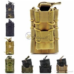 Wholesale Double Pistol Magazine Pouch - EDC MOLLE Tactical Open Top Double Decker Single Rifle Pistol Mag Pouch Magazine Bag,Outdoor Camping hiking Waist Bag Tool Pouch