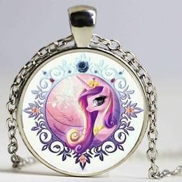 Wholesale Friendship Magic - Wholesale Anime Horse Princess Cadance Friendship Is Magic Necklace Glass Cabochon Necklace Steampunk Statement Necklace
