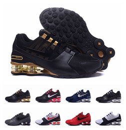Wholesale Table Tennis Trainers - Shox Current Air Cushion Running Shoes for Men Original White Gold Black Shox NZ Mens Trainers Sneakers Shoes Sport Shox Shoes