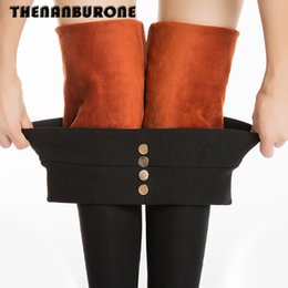 Wholesale Plus Size Thick Tights - Wholesale- Free Shipping New 2017 Winter Thick Plus Velvet Thickening Women's Berber Fleece Warm Cotton Pants Tights Plus Size XL XXL 809