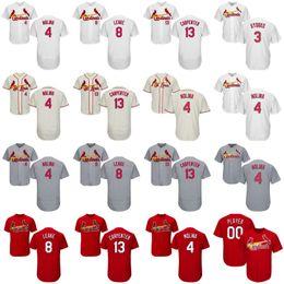 Wholesale St 15 - St. Louis Cardinals 2017 Baseball Jerseys 3 Jedd Gyorko 4 Yadier Molina 8 Mike Leake 13 Matt Carpenter 15 Randal Grichuk Flex Base Jersey